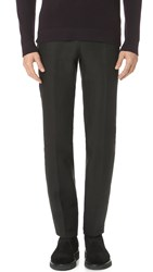Calvin Klein Crosby Linen Trousers Black