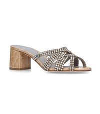 Gina Embellished Dexie Mules 50 Nude