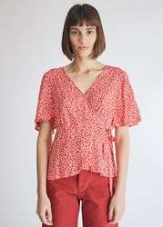 Farrow Christine Wrap Top In Red Size Extra Small