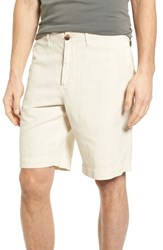 Billy Reid Clyde Cotton And Linen Shorts Eggshell