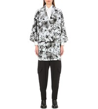 Chalayan Abstract Print Oversized Coat Snowstorm