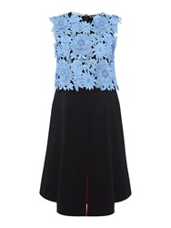 Sportmax Code Fida Sleeveless Embroidered Floral Top Black