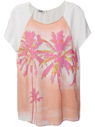 Moschino Cheap And Chic Palm Print T Shirt White