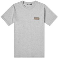 Napapijri Sase Patch Logo Tee Grey