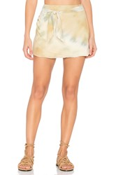 Free People When The Tide Turns Mini Skirt Yellow
