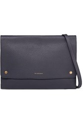 Burberry Textured Leather Shoulder Bag Charcoal