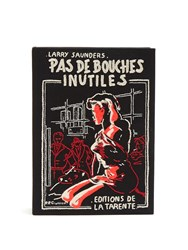 Olympia Le Tan Pas De Bouches Inutiles Book Clutch Black Multi