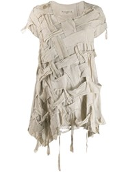 Rundholz Distressed Woven Style T Shirt Neutrals