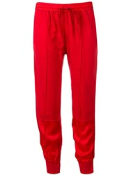 Andrea Ya'aqov Drawstring Track Pants Red
