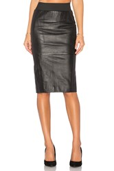 Blaque Label Leather Pencil Skirt Black