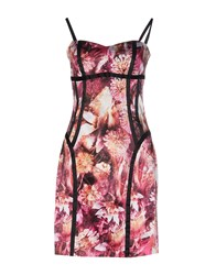 Guess By Marciano Short Dresses Garnet