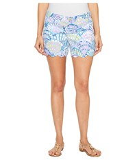 Lilly Pulitzer Buttercup Shorts Serene Blue Oh Shello Women's Shorts