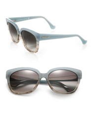 Balenciaga 59Mm Ombre Square Sunglasses Light Blue
