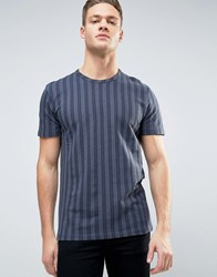 Selected Homme Stripe Tee Ombre Blue