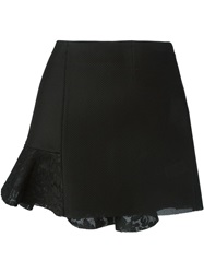 Amen Lace Detail Mesh Skirt Black