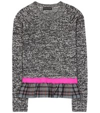 Etro Cotton Wool And Cashmere Sweater Grey