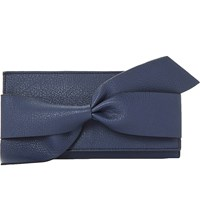 Dune Kbow Faux Leather Bow Detail Purse Navy Plain Synthetic