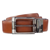 Ted Baker Crafti Smart Leather Reversible Belt Tan