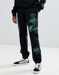 Billionaire Boys Club Embroidered Palm Tree Joggers In Black