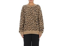 Alexander Wang Women's Leopard Pattern Wool Cashmere Oversized Sweater Brown No Color Brown No Color