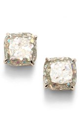 Women's Kate Spade New York Mini Small Square Stud Earrings Opal Glitter Silver