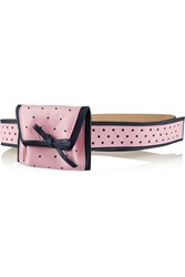 Red Valentino Perforated Leather Pouch Belt Pink