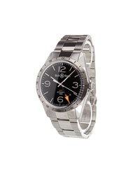 Bell And Ross 'Br 123 Gmt 24H' Analog Watch Stainless Steel