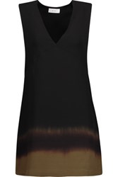 A.L.C. Eliott Ombre Silk Crepe De Chine Mini Dress Black
