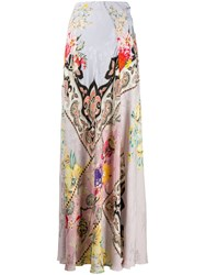 Etro Floral Long Skirt Pink