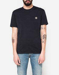 Stone Island Patch Logo T Shirt In Navy Blue