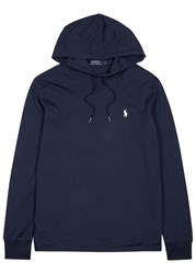 Polo Ralph Lauren Navy Hooded Pima Cotton Sewatshirt