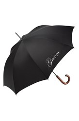 Shedrain Wedding Day Auto Open Stick Umbrella Black Groom Black