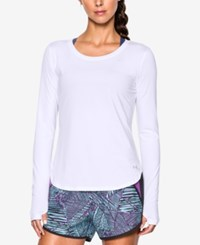 Under Armour Fly By Long Sleeve Training Top White