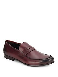 Harry's Of London James R Satin Calf Loafers Port