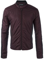 Dolce And Gabbana Panelled Padded Jacket Pink Purple