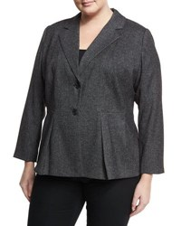 Vince Camuto Tweed Peplum Two Button Blazer Gray
