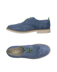 Snobs Footwear Lace Up Shoes Slate Blue