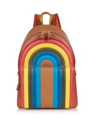 Anya Hindmarch Rainbow Leather Backpack Tan Multi