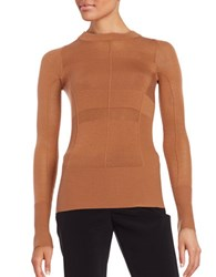Dkny Crewneck Merino Wool Sweater Copper