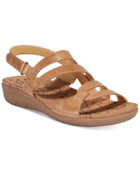 Bare Traps Jerie Wedge Sandals Women's Shoes Caramel