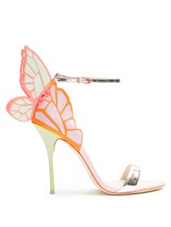 Sophia Webster Chiara Butterfly Wing Leather Sandals Multi