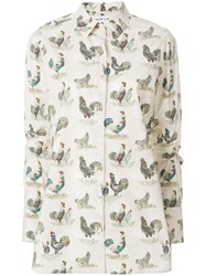 Carven Print Long Sleeve Shirt Nude And Neutrals