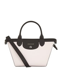 Longchamp Le Pliage Heritage Small Tricolour Handbag Female Girl Black White