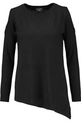 Magaschoni Cutout Silk And Cashmere Blend Sweater Black