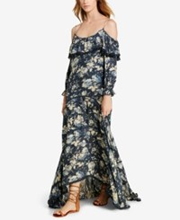Denim And Supply Ralph Lauren Ruffled Floral Print Off The Shoulder Dress Floral Multi