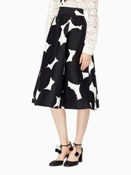 Kate Spade Blot Dot Midi Skirt French Cream Black