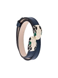 Bulgari Snake Head Bracelet Blue