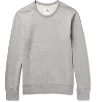 Reigning Champ Loopback Cotton Jersey Sweatshirt Gray