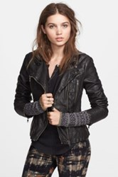 Free People Vegan Leather Moto Jacket Black