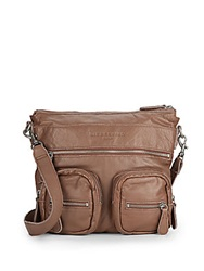 Liebeskind Anny Leather Crossbody Bag Almond